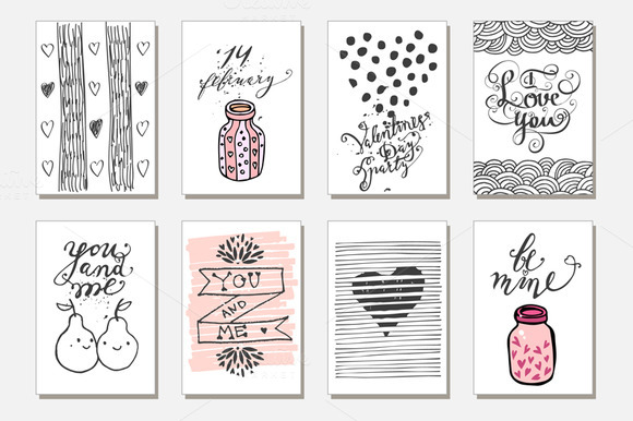 Cute gift tags. Love - Illustrations