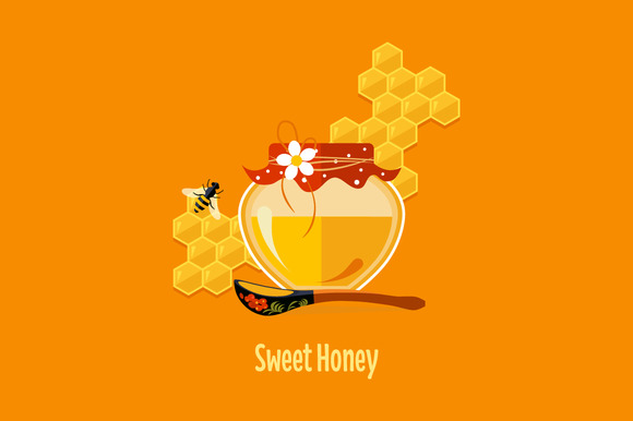 Jar With Honey Vector Isolated