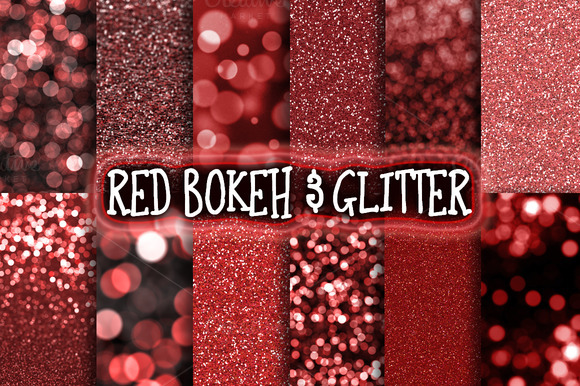 Red Bokeh Glitter Backgrounds
