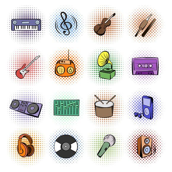 Music Comics Icons