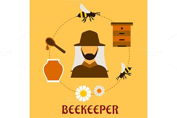 Beekeeping Concept With Beekeeping A
