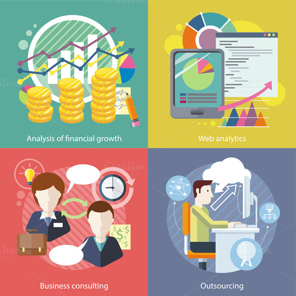 Outsourcing, Web Analytics. Analysis - Illustrations