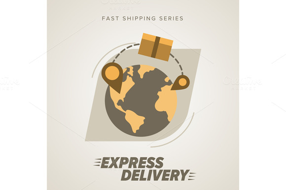 Worldwide Shipping. Icon Delivery - Illustrations