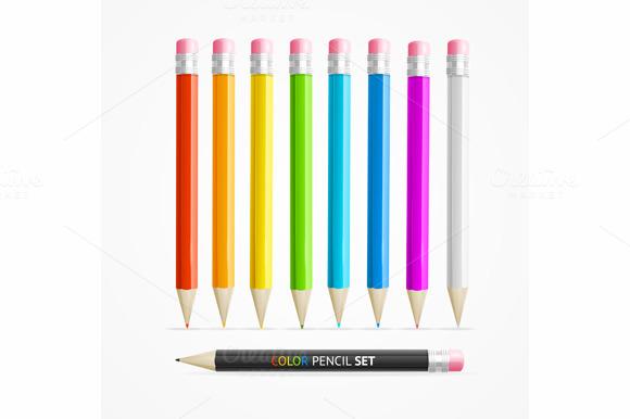 Color Pencil Set. Vector - Objects
