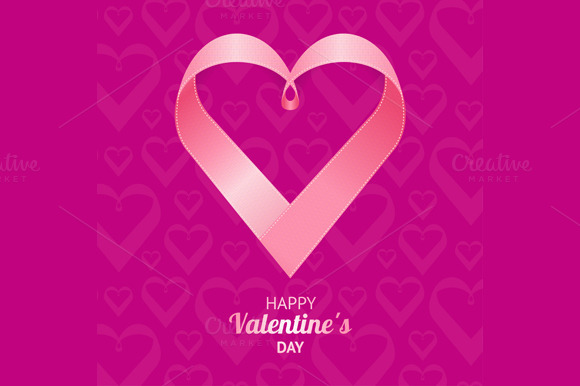 Valentine Background Heart. Vector - Illustrations
