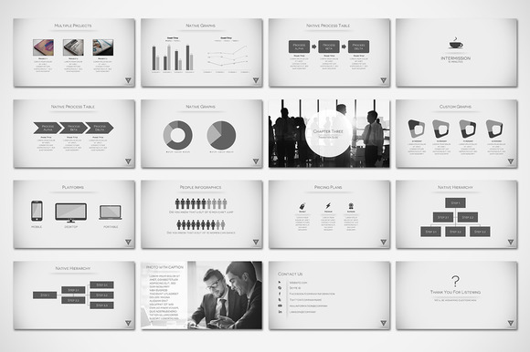 creativemarket - vertex - minimal presentation 29707 | other templates, Presentation templates