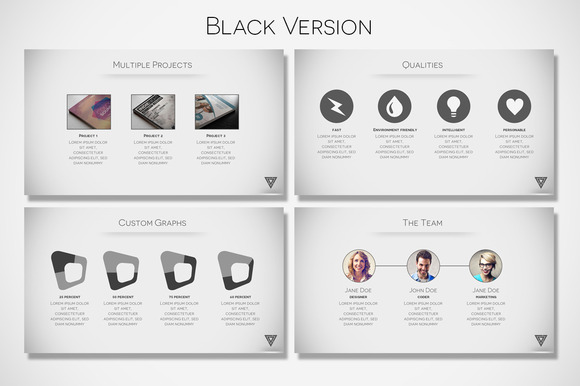 Creativemarket vertex minimal presentation 29707 for Minimalist powerpoint template free