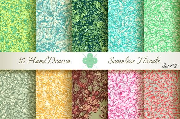 10 Ornate Seamless Florals. Set #2 - Patterns