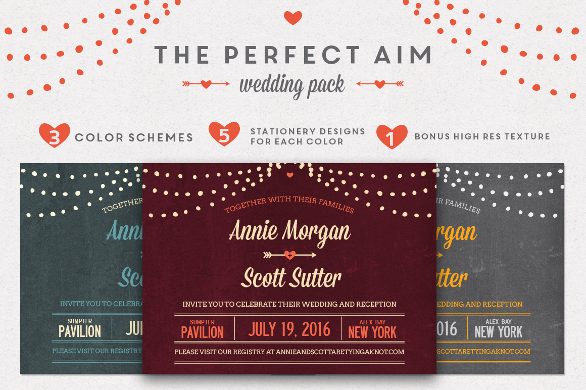 The Best Wedding Invitations: Perfect Aim Wedding Pack