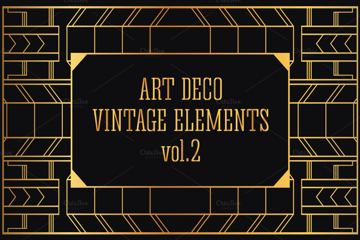 31 Art Deco Design Elements Vol 2 Illustrations On Creative Market