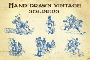 Hand Drawn Vintage Soldiers