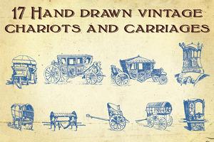 Hand Drawn Vintage Transportation