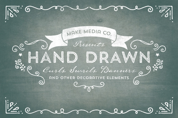 Hand Drawn Curls & Banners Vol. 1 - Illustrations