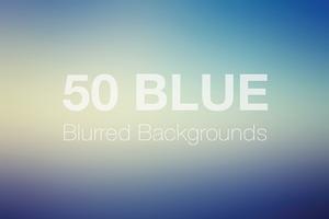 50 Blue Blurred Backgrounds Vol. 2
