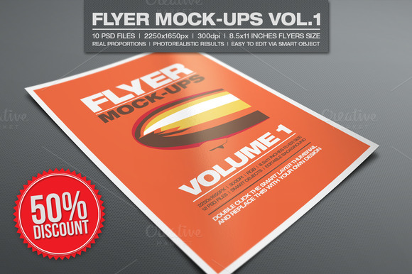 Flyer Mock-ups Vol.1 - Product Mockups - 1
