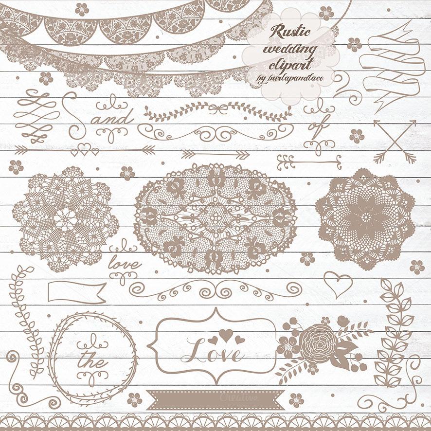Rustic Wedding Clipart Illustrations On Creative Market