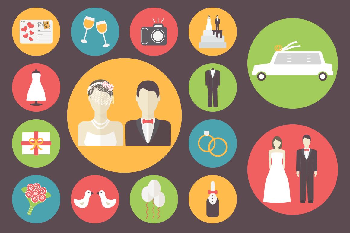 Wedding icons set ~ Graphics on Creative Market: https://creativemarket.com/Yapanda/31700-Wedding-icons-set