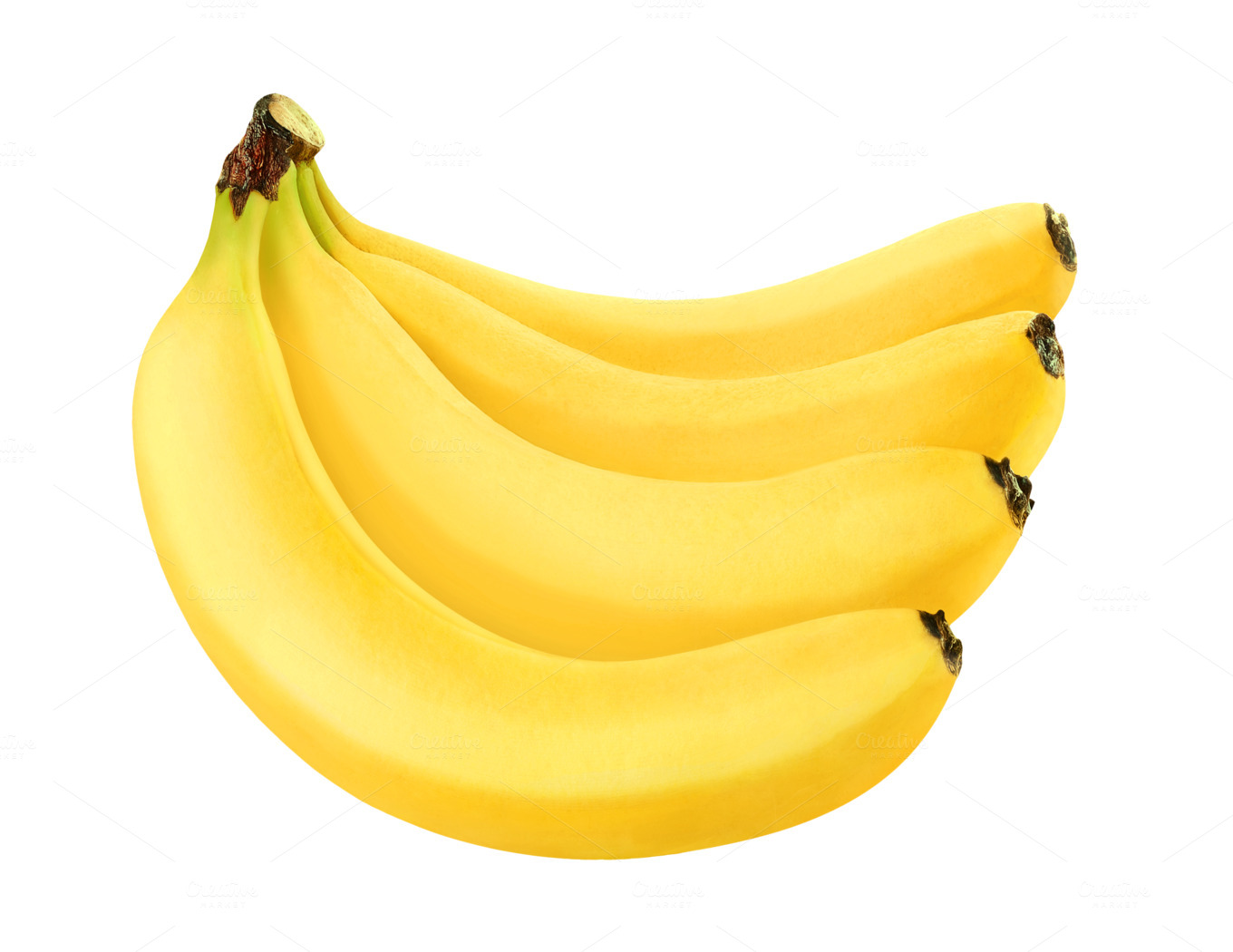 Banana on transparent background ~ Food & Drink Photos on ...