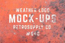 12 Weathered Mock-Ups