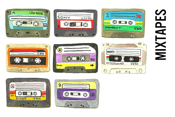 Mixtapes Clip Art - Transparent PNGs ~ Illustrations on ...