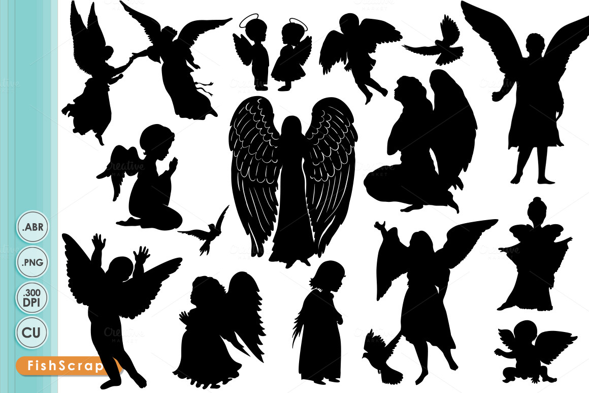 Angel Clip Art Angel Silhouettes Brushes On Creative