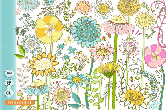 Summer Wildflowers Clip Art – Clipart Download