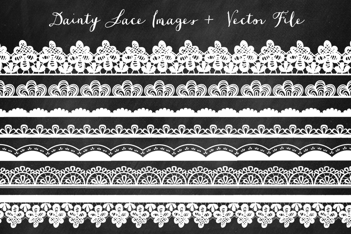 Borders Lace Clip Art Illustrations On Creative Market