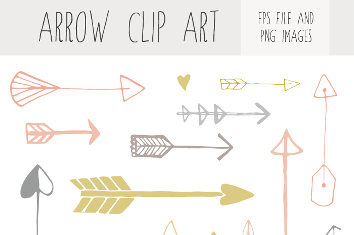 Handdrawn Arrow Clip Art ~ Illustrations on Creative Market