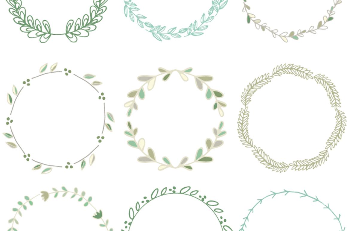 Handdrawn Laurel Wreath Clip Art ~ Illustrations on Creative Market