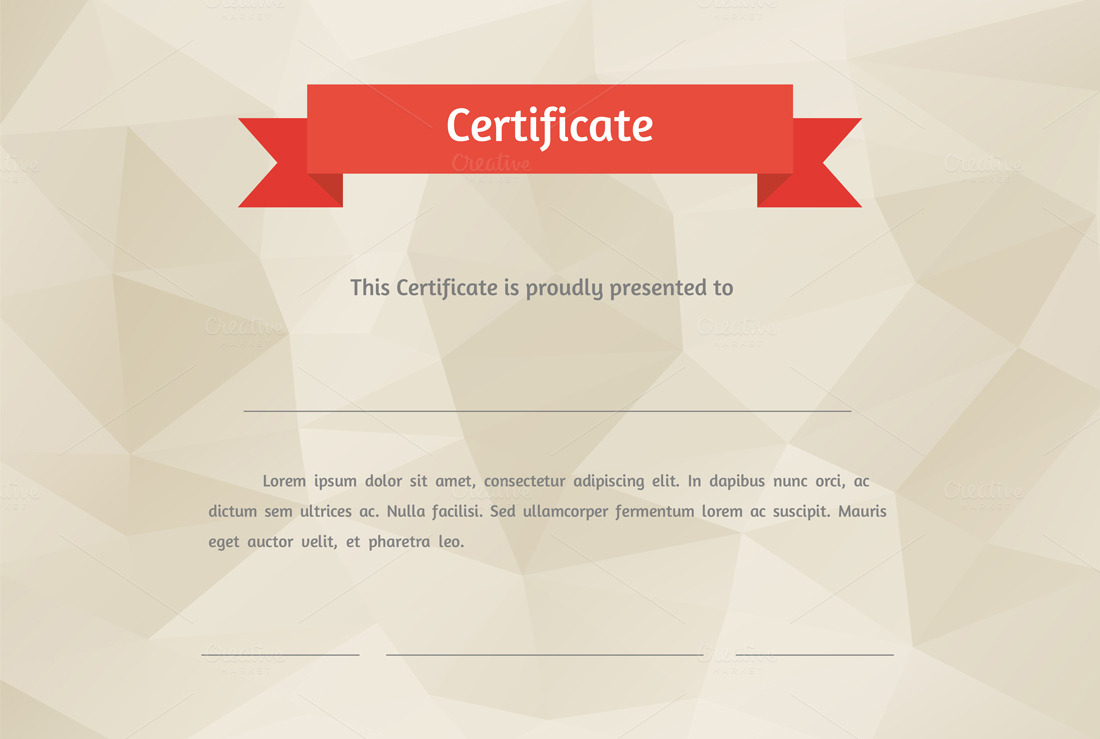 Vector Flat Style Certificate Graphics On Creative Market