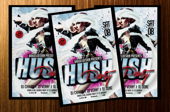 Hush Party Flyer