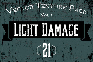 "21 Vector Textures - ""Light Damage"""