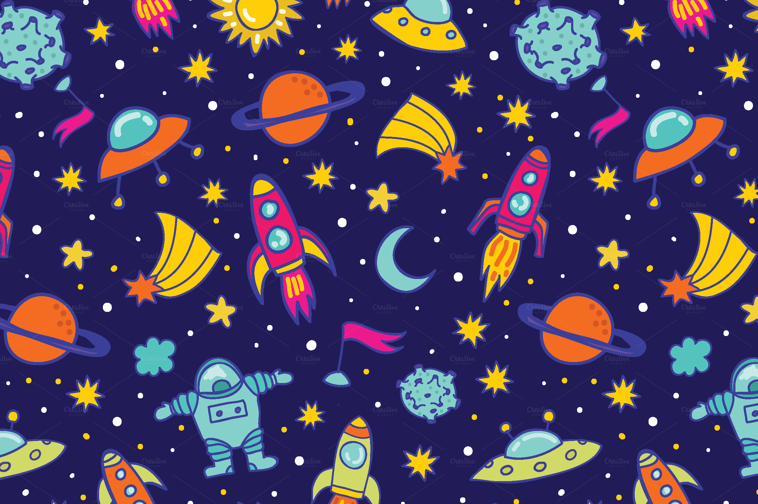 Space pattern patterns on creative market for Space themed material