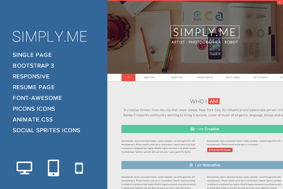 Simply.Me - Personal Portfolio - Bootstrap