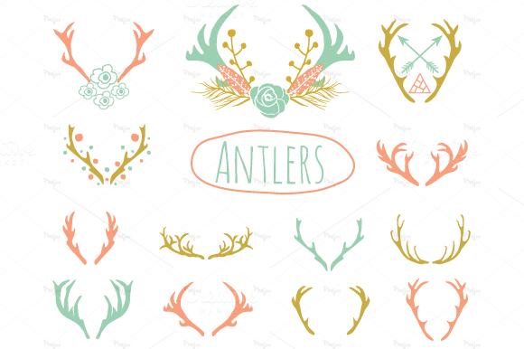 Antlers Brushes Horns Photoshop Brushes – Fondos de Pantalla