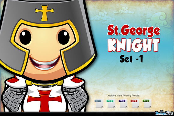 St. George Knight Character - Set 1 - Illustrations