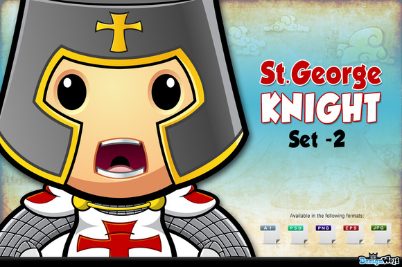 St. George Knight Character - Set 2 - Illustrations