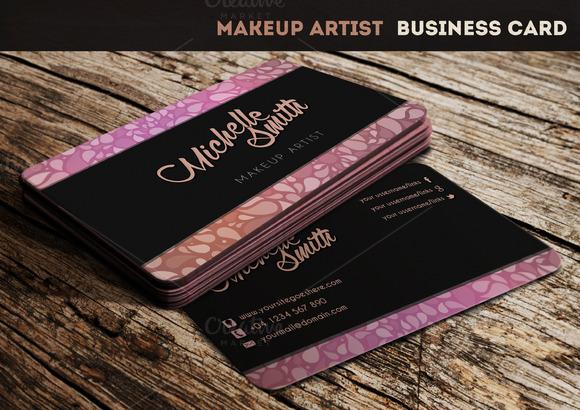 Makeup Artist Business Card Business Card Templates on