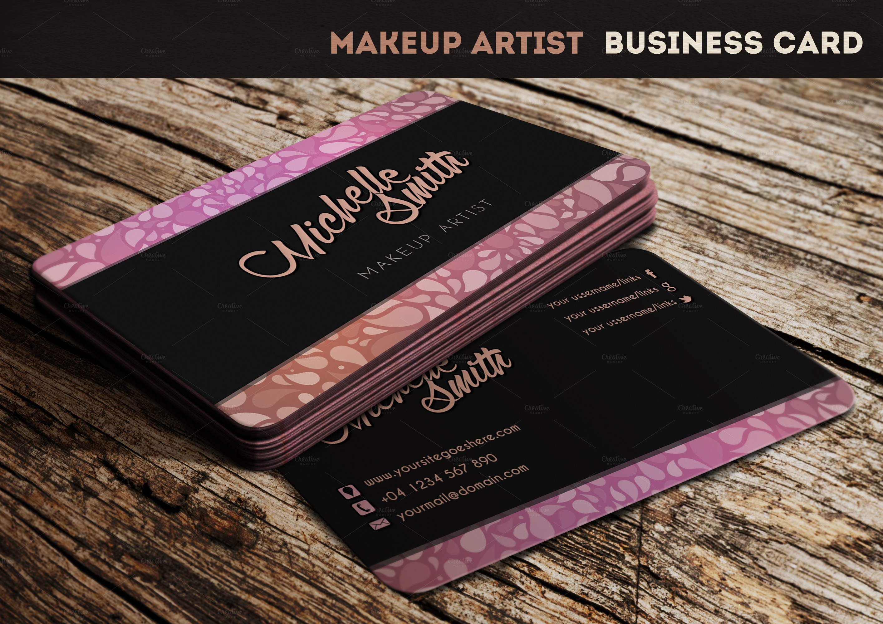 Makeup artist business cards templates business card sample makeup artist business cards templates fbccfo Choice Image