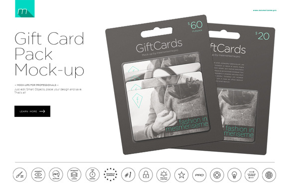 Gift Card Package Mock-up