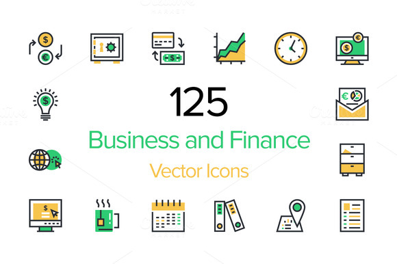 125 Business And Finance Icons