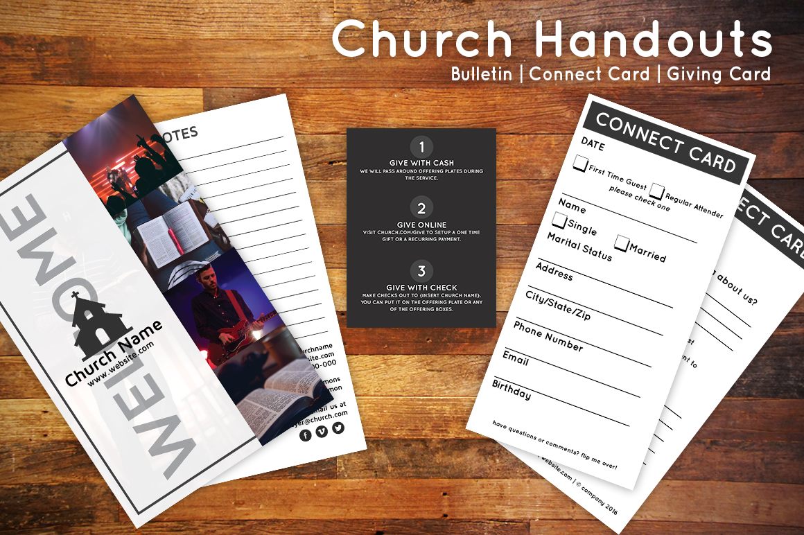 church brochures templates - church bulletin connect card flyer flyer templates on