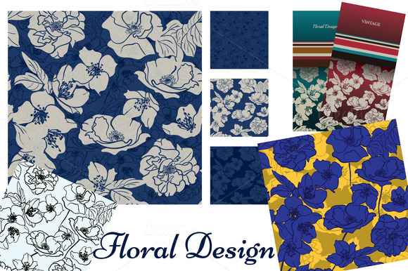 Floral Collection Patterns Cards