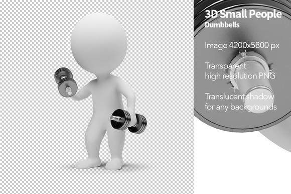 3D Small People Dumbbells