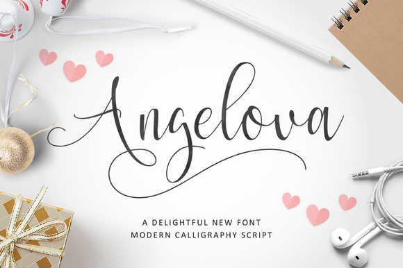 Creative idea romantic script fonts for valentine 39 s day Modern script font