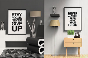 Modern Contemporary Frame Mockup