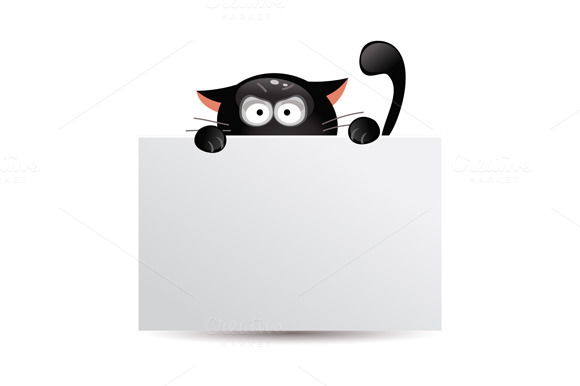 Set of black cats. Vector - Illustrations