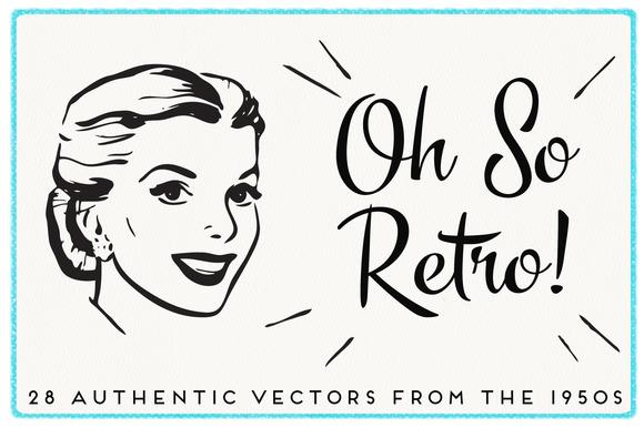 28 Authentic Retro 1950s Vectors ~ Illustrations on ...