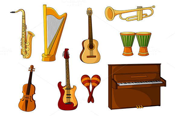 Cartoon Violin Images: Cartoon Harp » Designtube