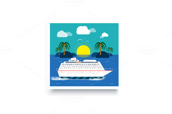 Cruise Ship. Water Tourism - Illustrations